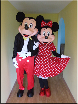 mickey and minnie mascots mascote